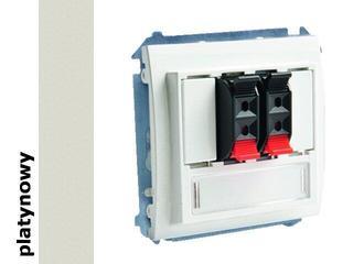 Gniazdo głośnikowe modułowe Classic (moduł) MGL3.01/27 platynowy Kontakt Simon