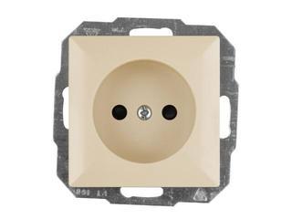 Gniazdo ścienne modułowe PERŁA IP20 pojedyncze b/u PT-15P beżowy Abex