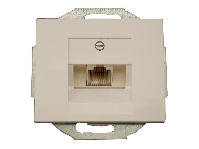 Gniazdo modułowe NOVA telefoniczno-komputerowe pojedynczeGTP-10N biały Abex