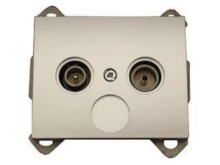 Gniazdo modułowe NOVA RTV końcowe 1,5 dB GAP-1N/K srebrny Abex