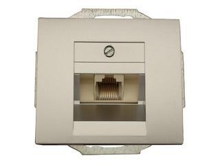 Gniazdo modułowe NOVA telefoniczno-komputerowe pojedynczeGTP-10N srebrny Abex