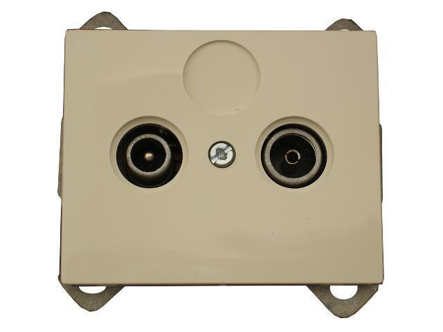Gniazdo modułowe NOVA RTV końcowe 1,5 dB GAP-1N/K beżowy Abex
