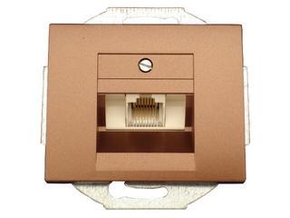 Gniazdo modułowe NOVA telefoniczno-komputerowe pojedynczeGTP-10N miedź Abex
