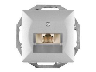 Gniazdo modułowe PERŁA telefoniczno-komputerowepoj. GTP-10P srebrny Abex