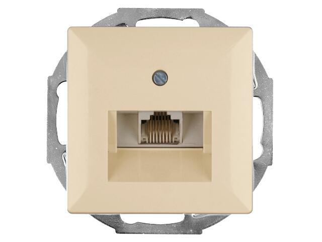 Gniazdo modułowe PERŁA telefoniczno-komputerowepojedyn. GTP-10P beżowy Abex