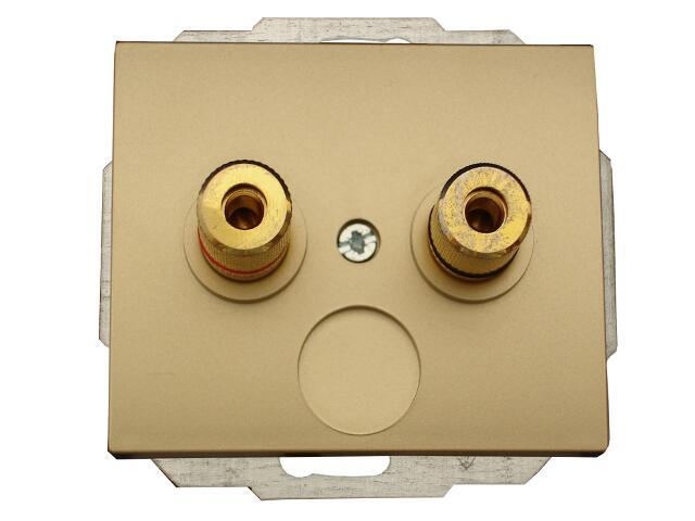 Gniazdo głośnikowe modułowe NOVA IP20 podwójne moduł PT-2GN złoty Abex