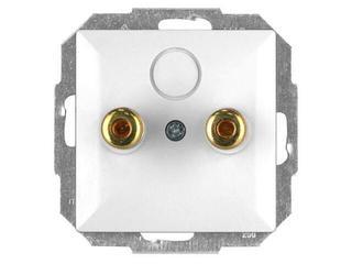 Gniazdo głośnikowe modułowe PERŁA moduł PT-2GP biały Abex