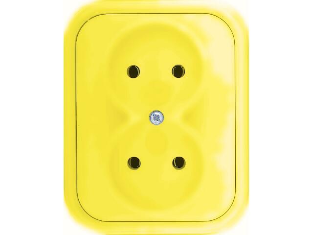 Gniazdo ścienne MILLENIUM podwójne PLM.G2B.ŻŁ.BK żółty Polmark