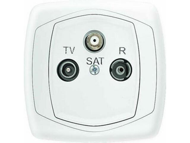 Gniazdo ścienne COMFORT antenowe RTV- SAT GPA-XS.BI biały Polmark