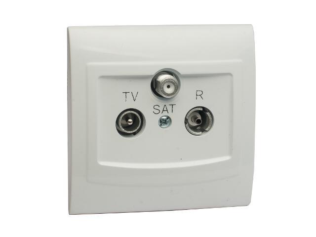 Gniazdo ścienne VEGA RTV-SAT GPA-XS biały Polmark
