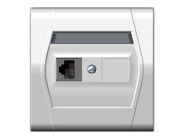 Gniazdo ścienne FESTA komputerowe pojedyncze GPT RJ45 biały Elektro-plast N.