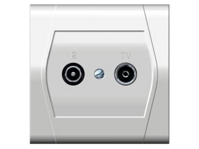 Gniazdo ścienne FESTA przelotowe GPT R-TV 14dB biały Elektro-plast N.