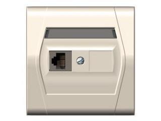 Gniazdo ścienne FESTA komputerowe pojedyncze GPT RJ45 kremowy Elektro-plast N.