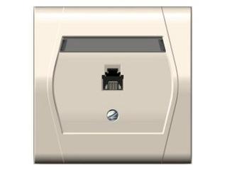 Gniazdo ścienne FESTA telefoniczne pojedyncze GPT 4c/6p kremowy Elektro-plast N.