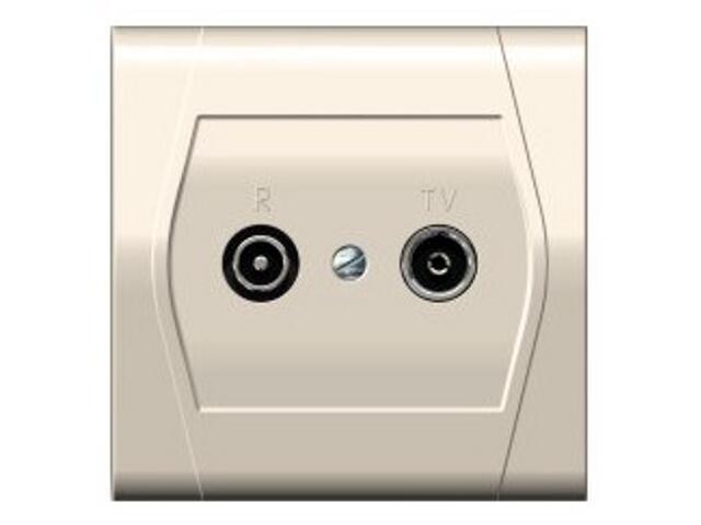Gniazdo ścienne FESTA przelotowe GPT R-TV 14dB kremowy Elektro-plast N.