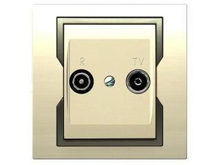 Gniazdo ścienne QUATTRO RTV przelotowe GPT R-TV 14 dB krem satyna Elektro-plast N.