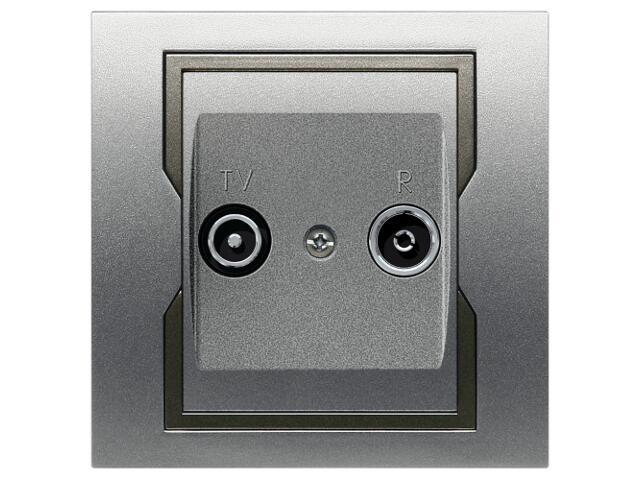 Gniazdo ścienne QUATTRO RTV przelotowe GPT R-TV 14 dB srebrny grafitowy Elektro-plast N.