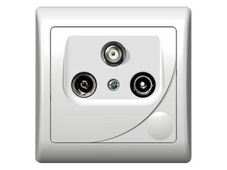 Gniazdo ścienne EFEKT RTV-SAT końcowe 1,5-2 dB biały Ospel