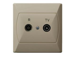 Gniazdo ścienne AKCENT RTV GAP-10 dB beżowy Ospel