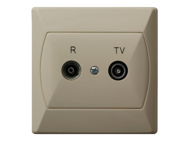 Gniazdo ścienne AKCENT RTV GAP-16 dB beżowy Ospel