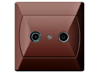 Gniazdo ścienne AKCENT RTV GAP-10 dB brązowy Ospel