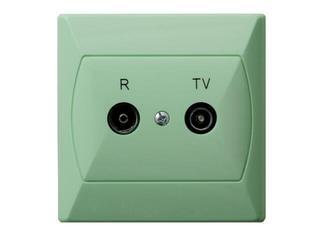 Gniazdo ścienne AKCENT RTV GAP-10 dB seledynowy Ospel