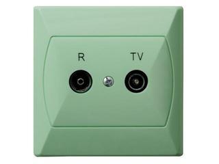 Gniazdo ścienne AKCENT RTV GAP-14 dB seledynowy Ospel