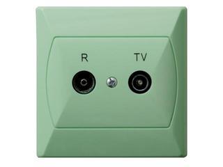 Gniazdo ścienne AKCENT RTV GAP-16 dB seledynowy Ospel