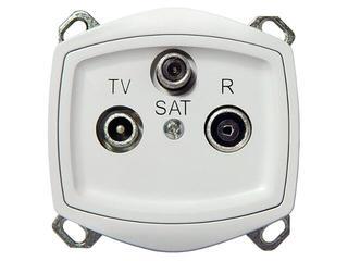 Gniazdo RTV modułowe TON COLOR SYSTEM RTV-SAT końcowe biały Ospel