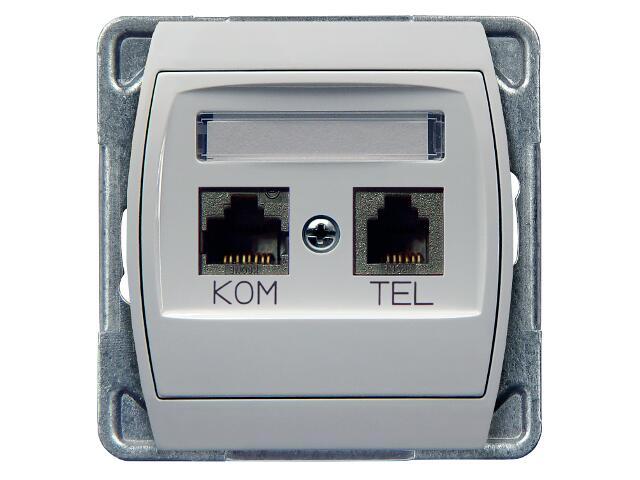 Gniazdo modułowe GAZELA komp-telef. RJ45/RJ11 biały Ospel