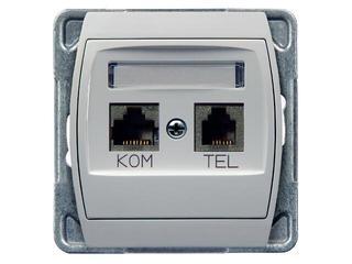 Gniazdo modułowe GAZELA komp-telef. kat.6 KRONE ekranowane biały Ospel