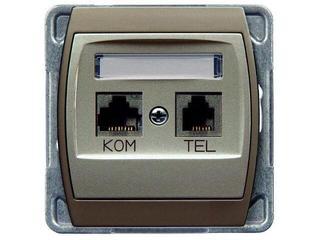 Gniazdo modułowe GAZELA METALIC komp-telef. kat.6 KRONE ekran. srebro tytan Ospel