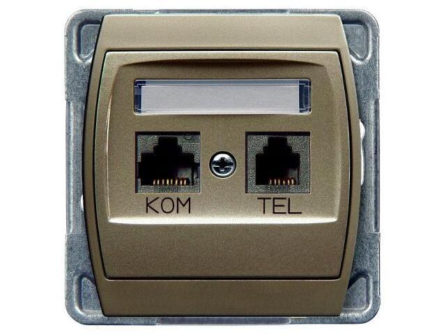Gniazdo modułowe GAZELA METALIC komp-telef. kat.6 KRONE ekran. satyna Ospel