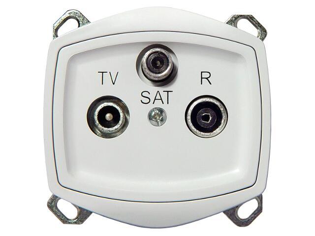 Gniazdo ścienne TON COLOR SYSTEM RTV-SAT przelotowe biały Ospel