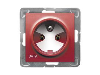 Gniazdo ścienne modułowe IMPRESJA pojedyncze z/u DATA z kluczem biały Ospel