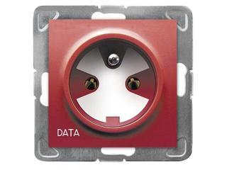Gniazdo ścienne modułowe IMPRESJA pojedyncze z/u DATA z kluczem ecru Ospel