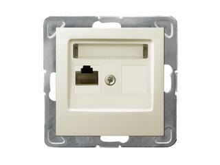 Gniazdo modułowe IMPRESJA komp. pojedyncze kat. 6 FMT ekranowane ecru Ospel
