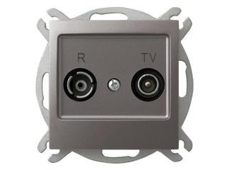 Gniazdo modułowe IMPRESJA RTV przelotowe 10 dB tytan Ospel