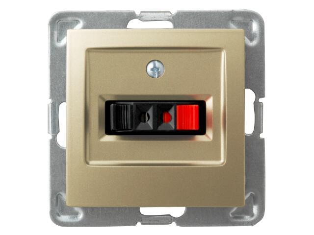 Gniazdo głośnikowe modułowe IMPRESJA MODUŁ pojedyncze złoty metalik Ospel