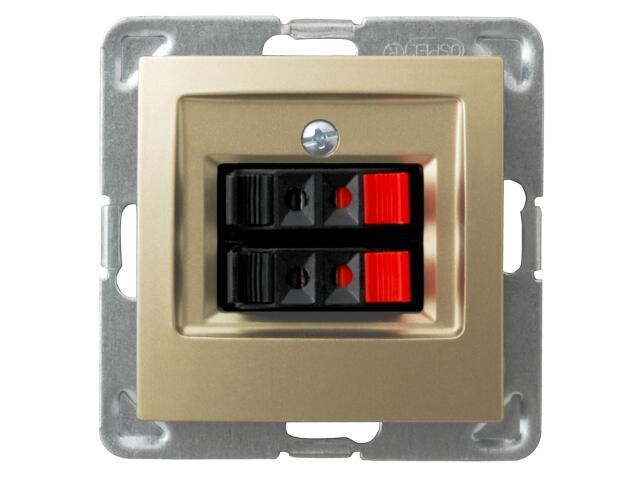 Gniazdo głośnikowe modułowe IMPRESJA MODUŁ podwójne złoty metalik Ospel