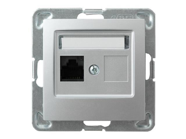 Gniazdo modułowe IMPRESJA komp. pojedyncze kat. 6 FMT ekranowane srebro Ospel