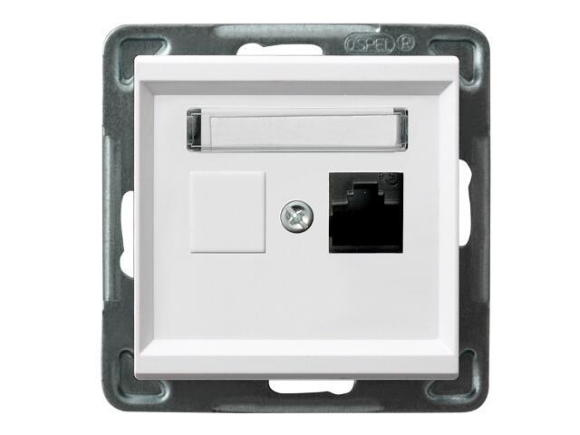 Gniazdo modułowe SONATA komp. pojedyncze kat. 6 ekranowane FMT biały Ospel