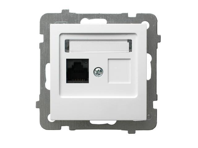 Gniazdo modułowe AS komputerowe pojedyncze kat. 6 ekranowane KRONE biały Ospel