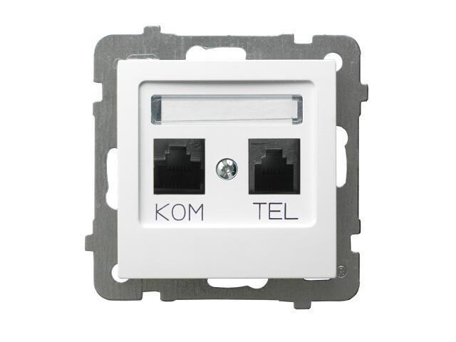 Gniazdo modułowe AS komputerowo-telefoniczne GPKT-G/K/m/00 KRONE biały Ospel