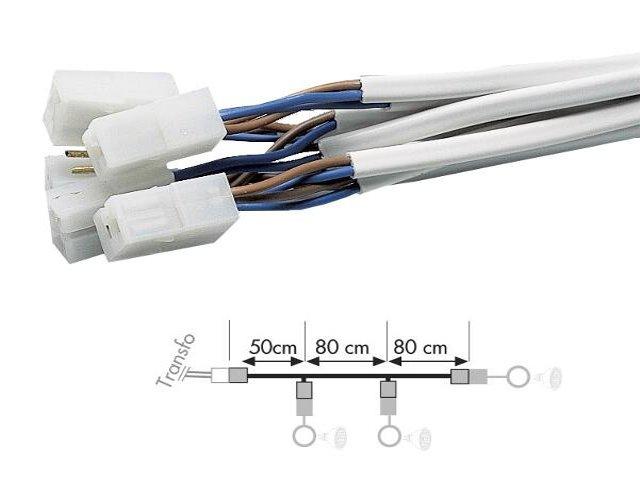 Przewód przyłączeniowy przewodów, na 3-y oświetlenia, dł. 210cm, 0,75mm2, Paulmann