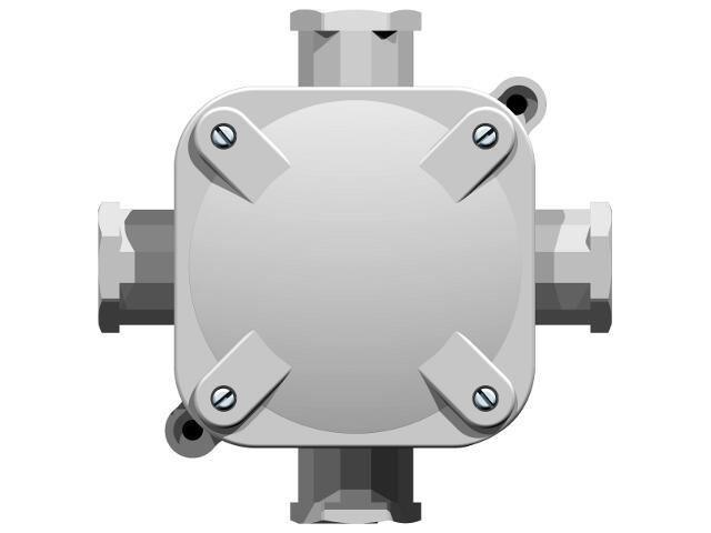Przewód przyłączeniowy instalacyjny naścienny 4 wyloty 5-torowy IP 67 Ospel