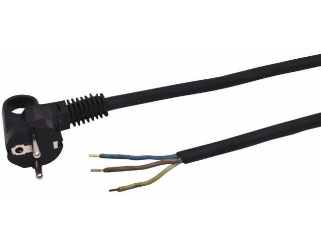 Przewód przyłączeniowy OMY3x1,5 5,0m czarna Polmark