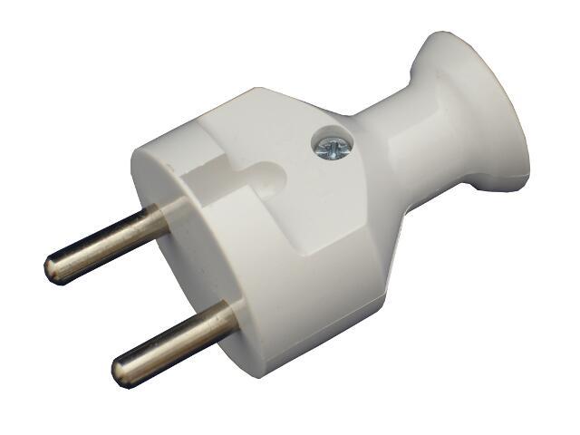 Wtyczka kablowa prosta b/u WT-21 biały Abex