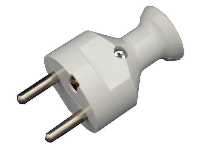 Wtyczka kablowa prosta z/u WT-31 biały Abex