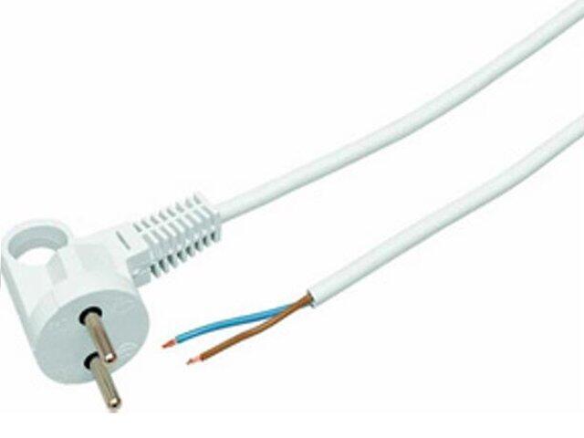 Przewód przyłączeniowy OMY2x1 1,6m biała Polmark